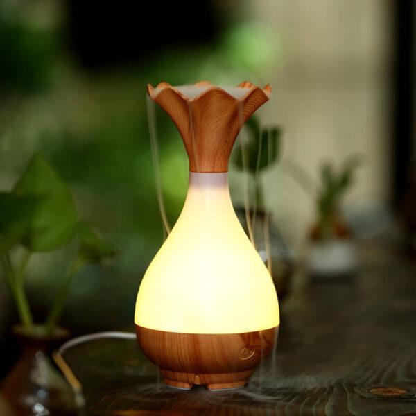 Flower Fog Vase Oil Diffuser Humidifier