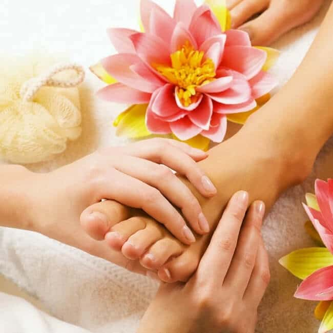 Foot Massage With Essential Oils